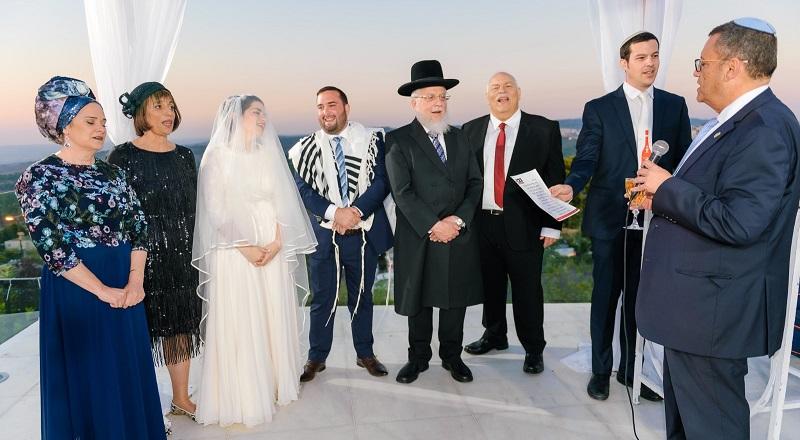 חתונת אלקנה יעקובוביץ' וליאור פריילכמן (צילום: דוד שטיין)
