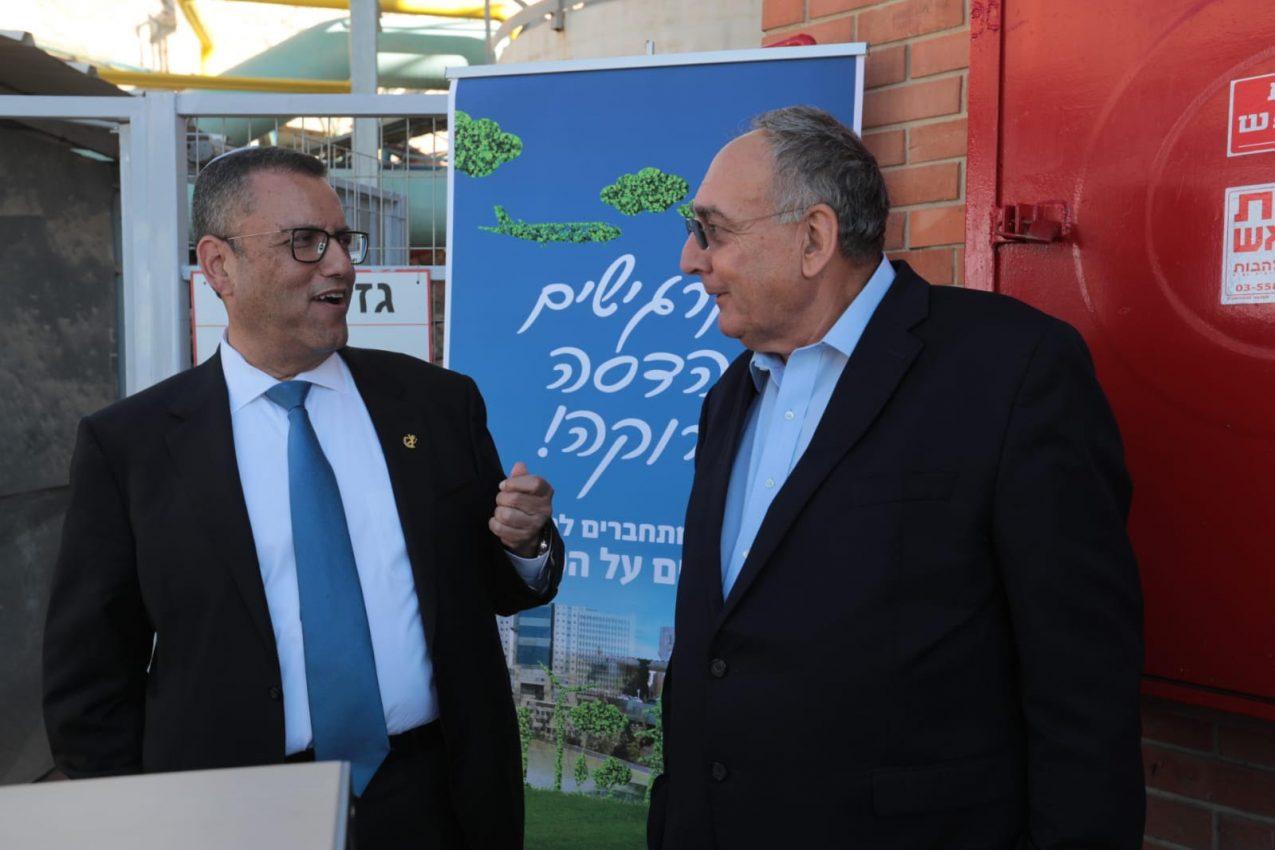 ראש העיר משה ליאון ופרופ' רוטשטיין בטקס חנוכת קו הגז הטבעי הראשון בירושלים,צילום: יוסי זמיר
