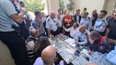 הערכת מצב בבית החולים שערי צדק (צילום: כבאות והצלה ירושלים)