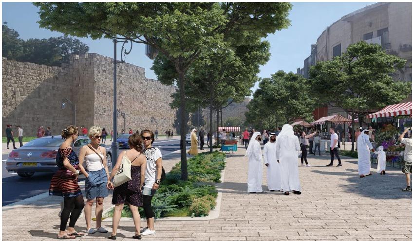 רחוב סולטאן סולימן (הדמיות: טוטם הדמיות, באדיבות חברת 'עדן')