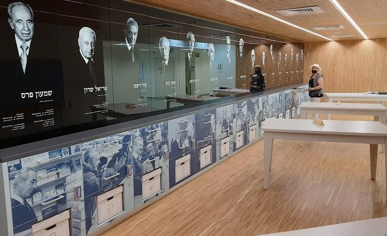 ארכיון המדינה, חדר הנצחת נשיאים וראשי ממשלה (צילום: אדם אקרמן)