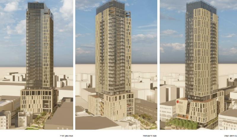 """מגדל פרדס (הדמיה: מתי רוזנשיין אדריכלים בע""""מ)"""