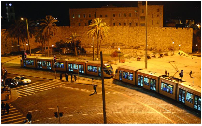 הרכבת הקלה (צילום: תכנית אב לתחבורה ירושלים)