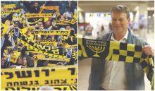 """ארווין קומאן, אוהדי בית""""ר ירושלים (צילומים: בדיבות דוברות בית""""ר ירושלים, ניר קידר)"""
