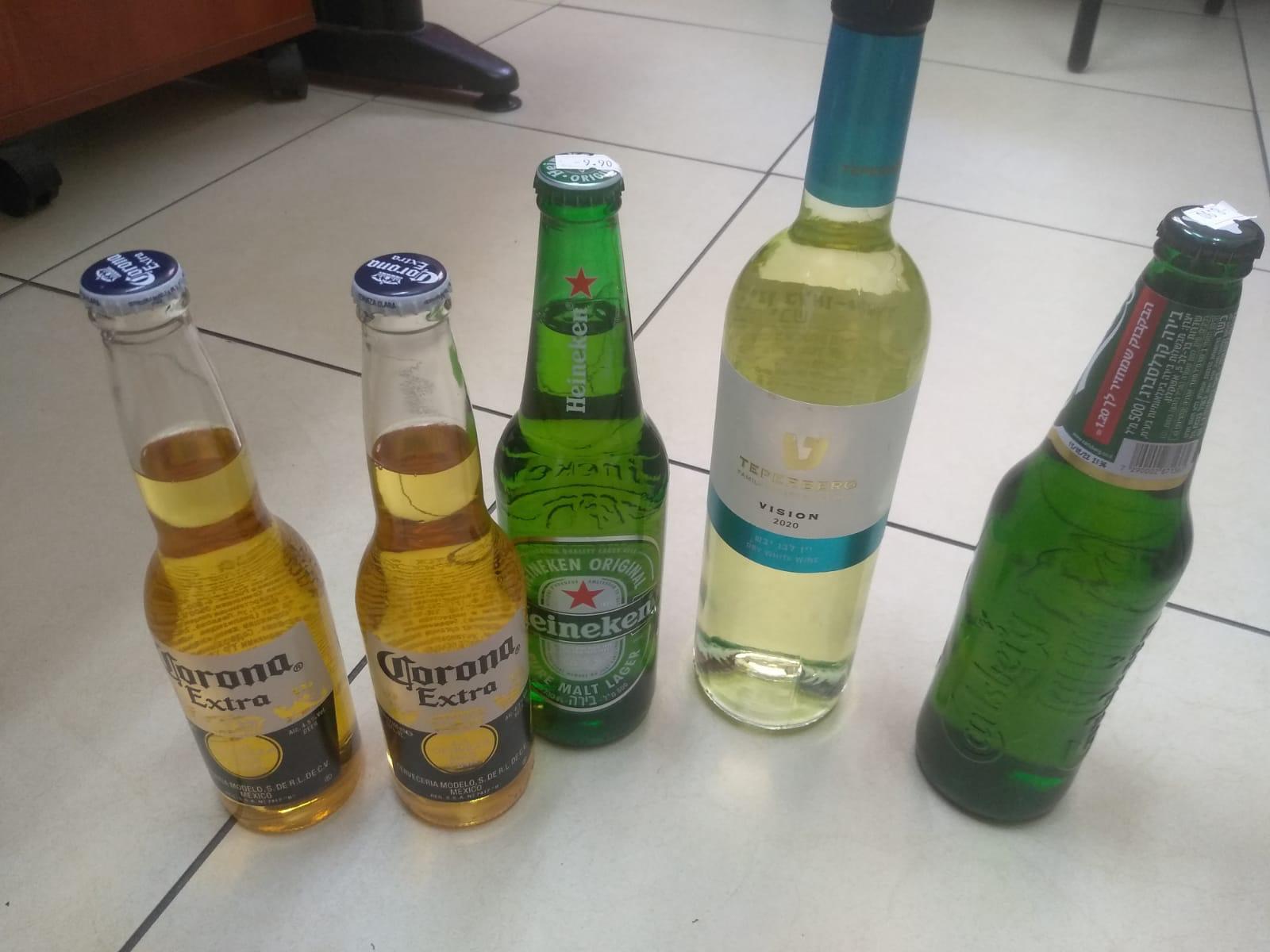 האלכוהול שנתפס (צילום: דוברות המשטרה)