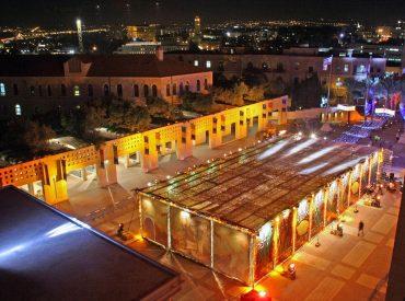 הסוכה בכיכר ספרא (צילום: באדיבות העירייה)