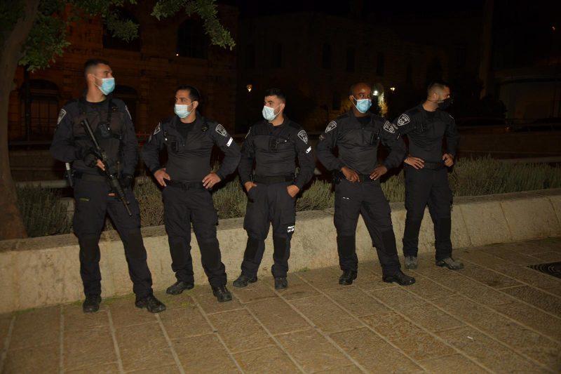 כוחות משטרה בעיר העתיקה (צילום: דוברות המשטרה)