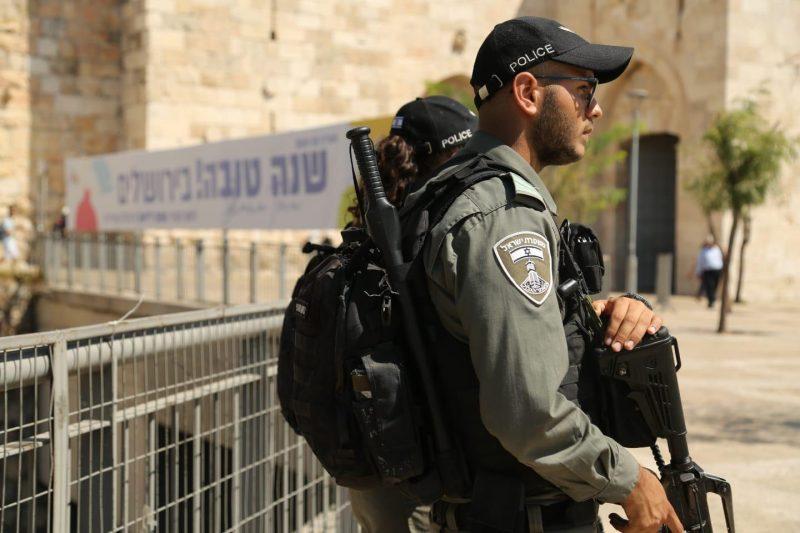 כוננות משטרה בעיר העתיקה צילום דוברות המשטרה