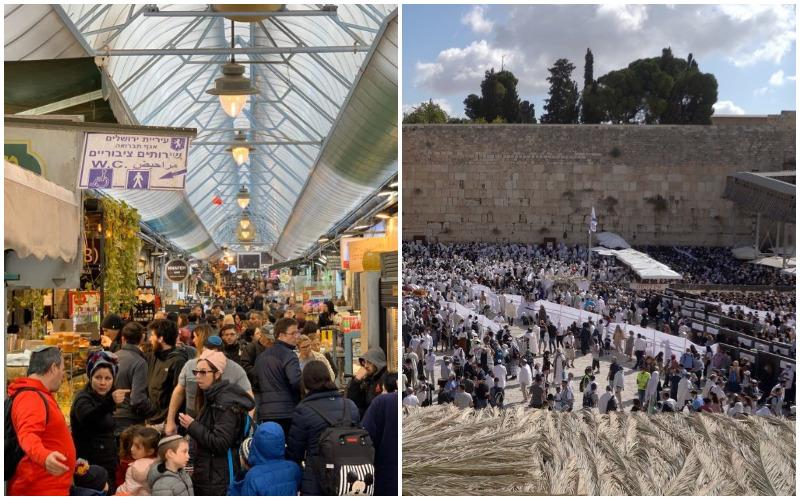 סוכות 2021 בירושלים – כ-300,000 מבקרים; כ-12,000 טון אשפה