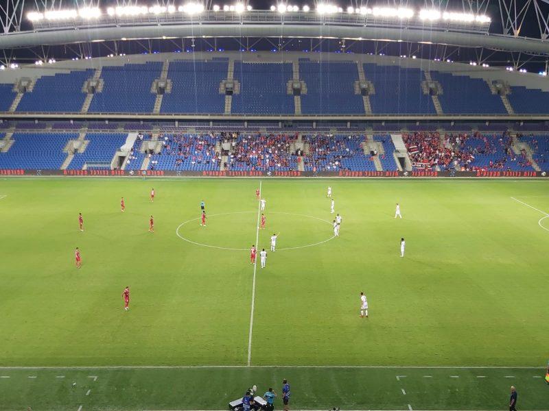 המשחק בין הפועל ירושלים להפועל חדרה באצטדיון בנתניה (צילום: אור בוקר)