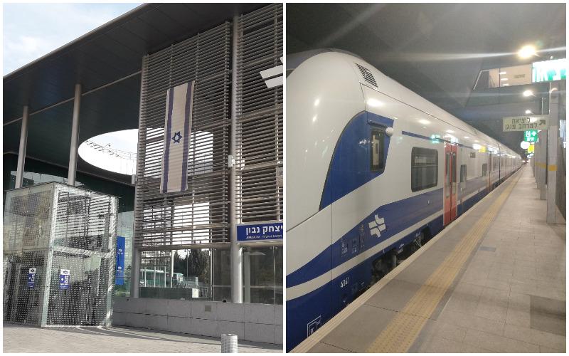 תחנת רכבת יצחק נבון, קטר הרכבת המהירה צילומים רועי ינקלוביץ, פארוק