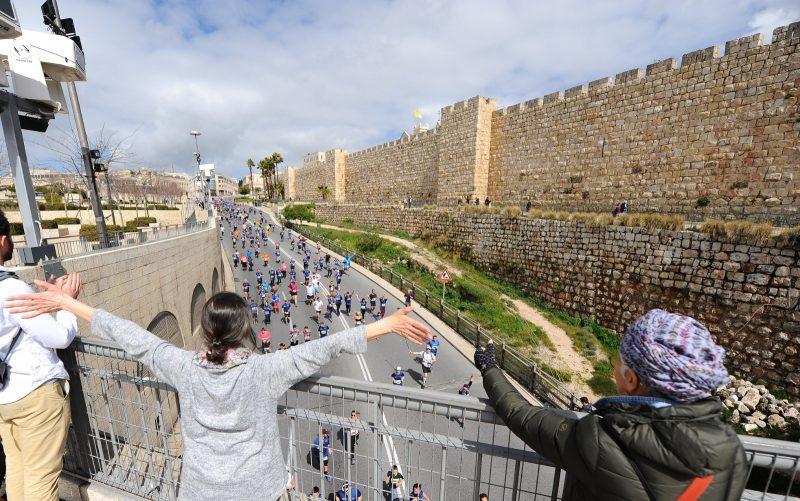 מרתון ירושלים בשנת 2019 (צילום: פלאש 90)