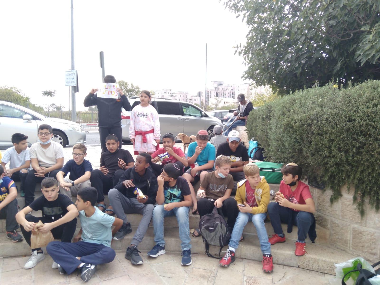 התלמידים שהצטרפו למאבק (צילום: פרטי)