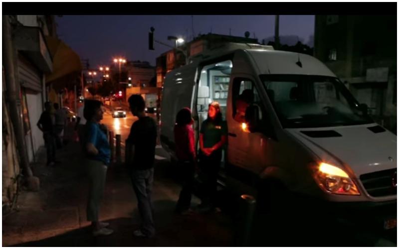 המרפאה הניידת לטיפול באנשים בזנות (צילום: רני חלאבי, מנהלת פעילות השטח של המרפאה הניידת תל אביב)