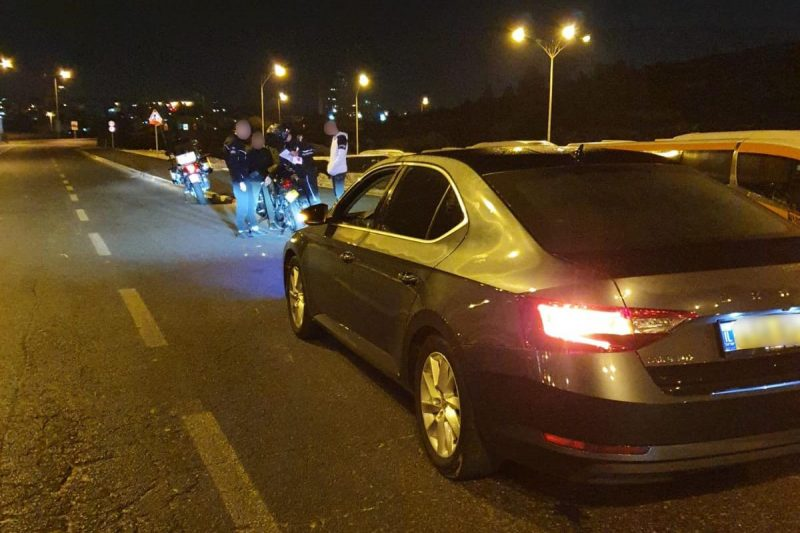 הפעילות המשטרתית בכביש בגין (צילום: דוברות המשטרה)