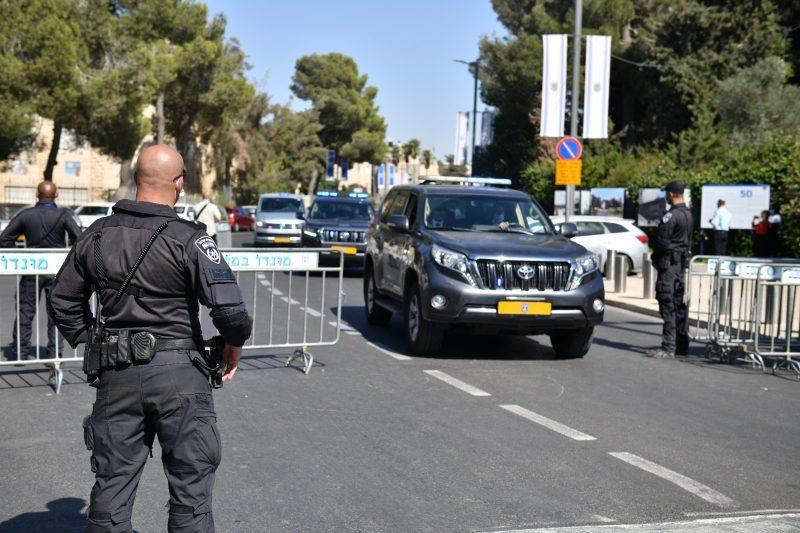 חסימות כביש בירושלים במהלך ביקורה של קנצלרית גרמניה אנגלה מרקל (צילום: דוברות המשטרה)