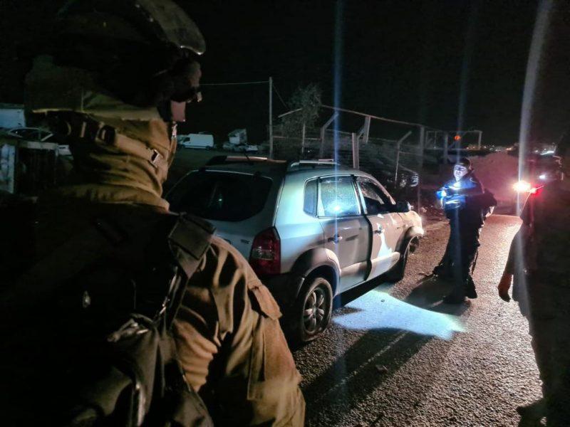 מזירת פיגוע הדריסה הלילה (צילום: דוברות המשטרה)