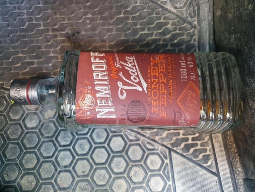 הבקבוק שאותר (צילום: דוברות המשטרה)