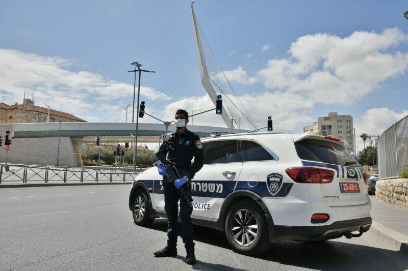 חסימות כבישים בירושלים (צילומים: דוברות המשטרה)